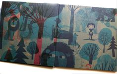 Endpapers 'Before I Wake Up' - published by Prestel 2016  - Britta Teckentrup