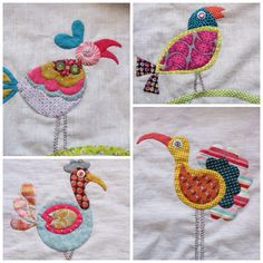 Quilting Projects, Quilting Designs, Sewing Projects, Quilting Tips, Bird Applique, Applique Quilts, Sarah Fielke Quilts, Bird Quilt, Cute Quilts