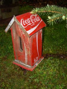 Vintage Coca Cola Crate Bird House