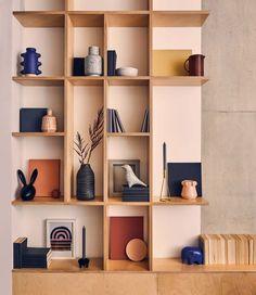 22 Places to Shop for Designer Furniture and Decor - open shelving Bookshelf Design, Wall Shelves Design, Display Shelves, Shelving Decor, Wall Shelving, Shelving Ideas, Open Shelves, Modern Shelving, Home Room Design