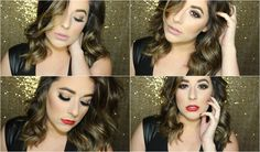 Dramatic Gold NYE Makeup Tutorial + 2 lip options | Eleni Lembesis