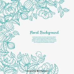 Fundo floral esboçado