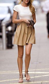 Skirt + sandals + LEGS