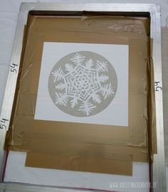 Siebdruck mit Papierschablonen - screen printing with paper stencils