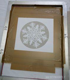 Siebdruck mit Papierschablonen - screen printing with paper stencils