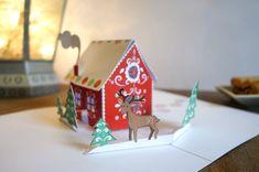 Freebie! Gingerbread House Pop-Up Card   faltmanufaktur Blog