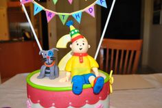 Caillou+Cake++-+My+first+gum+paste+figures+for+my+twin+nieces+2nd+birthday+Caillou+&+Gilbert+:)