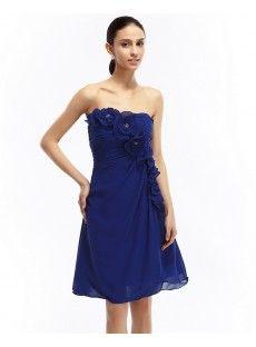 Chiffon A-Line Blue Bridesmaid Dresses Strapless Dress Formal, Formal Dresses, Wedding Dresses, Bridesmaid Dresses Online, Blue Bridesmaids, Online Sales, Special Occasion Dresses, Chiffon, Fashion