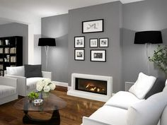 Find out why modern living room design is the way to go! A living room design to make any living room decor ideas be the brightest of them all. Farm House Living Room, Living Room Color, Stylish Living Room, Fireplace Design, Living Room Diy, Living Room Wall, Vintage Living Room, Living Room Grey, Living Decor