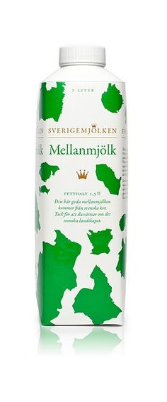 """""""This design cleverly combines all 25 of the Swedish counties into a cow pattern"""