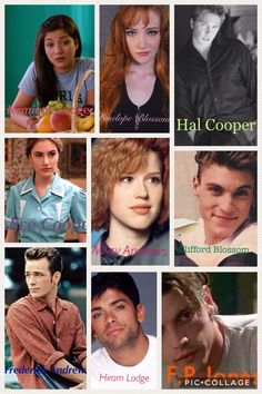 The Riverdale parents as high school students or young