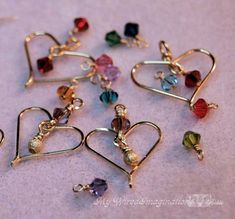 How to Wire Wrap Hearts Wire Jewelry Tutorial Charming