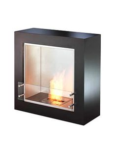 """Forget the Logs  --  """"For an instant fireplace, add a biofuel fireplace unit. It's a wonderfully simple installation, with no ventilation required, and they're fueled by ethanol — easily purchased at the hardware store."""" -David Easton"""