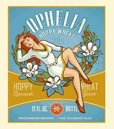 Ophelia Hoppy Wheat label by Breckenridge Brewery