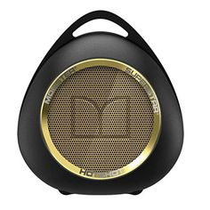 SuperStar HotShot Portable Bluetooth Speaker  Black with Gold ** To view further for this item, visit the image link.