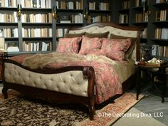Bedroom Design: Old World charm and warmth at Bernhardt. Spotted at High Point Market fall 2013 #hpmkt