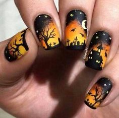 Are you looking for easy Halloween nail art designs for October for Halloween party? See our collection full of easy Halloween nail art designs ideas and get inspired! Fall Nail Art Designs, Halloween Nail Designs, Halloween Nail Art, Easy Halloween, Fall Designs, Halloween Spider, Funny Halloween, Halloween Halloween, Halloween Costumes