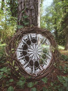 Dream catcher inspired art piece / Foreverwanderingg / Sacred Spaces <3