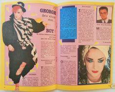 GREEK Magazine KATERINA_BOY GEORGE_L.EVANS_JOHN TAYLOR_CATHERINE OXENBERG_1985