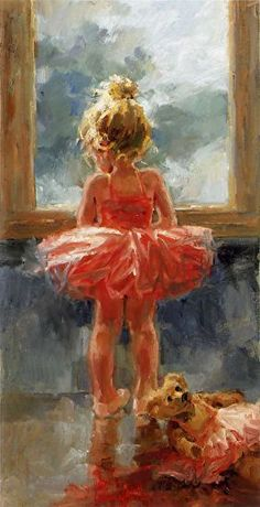 """Oil Painting """"The Dance Can Wait"""" by Corinne Hartley ~"""
