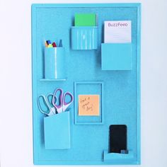 Turn Household Materials Into A Wall Organizer