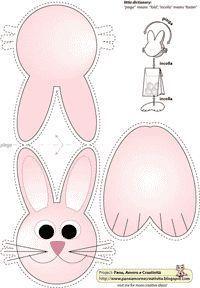 un coniglietto rosa: