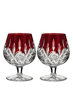 Waterford 'Lismore Red' Lead Crystal Brandy Glasses (Set of 2) available at #Nordstrom