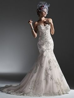 Maggie Sottero Sweetheart Fit and Flare in Tulle | KleinfeldBridal.com