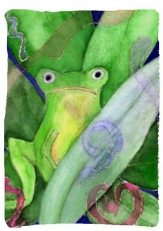 Tree frog throw blanket from my original art. Art is on one side and white on the other side. Choose from 4 sizes. 100% soft, warm polyester fleece Ink won't run, fade or distress Machine washable