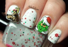 christmas toe nails designs - Google Search