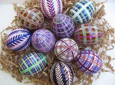 Plaid Ukrainian Pysanky Eggs