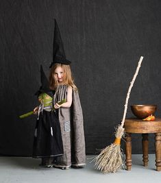 WEBSTA @ mer_mag - My favorite classic Halloween costume is the simple witch. Growing up my mom was a witch every year and I've sort of carried on the tradition (I mean it does run in the family ). I have created a really simple witchy dress and hat pattern - as well as easy broom instrux - for your little spell maker . You can find it in the special Halloween edition of @betterhomesandgardens. (Oh and if anyone is interested in a witch doll DM me and I can do a pre-order for you in ti...