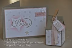 Celebrate Baby with Hearts and Stars masks for the Creative Stampin' Blog Hop. Designed by Mikaela Titheridge, Independent Stampin' Up! Demonstrator, The Crafty oINK Pen, Spaldwick, Cambridgeshire, UK. Supplies available thecraftyoinkpen.stampinup.net