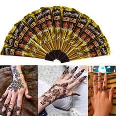 Black Natural Herbal Henna Cone Temporary Tattoo Tattoos Body Art