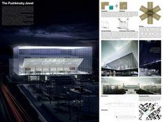 [A3N] : Pushkinsky Theater Competition / 3rd Prize: THE Pushkinsky JEWEL  Design: Joseph Sung (UK)