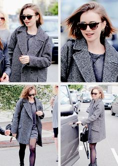 Lily Collins out with her mom 15.12.14