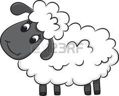 ovce%3A+Cartoon+ovce+vektorov%C3%A9+ilustrace