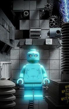 Watchmen Dr. Manhattan Custom LEGO Minifig