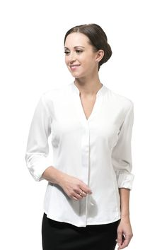 An essential silk shirt that fits your big boobs and your torso. Buttons that won't pull or gape with a body skimming fit for DD to JJ. Professional Women, White Silk, Work Fashion, Girl Boss, Curves, Shirts, Crisp, Clothes, Size Chart