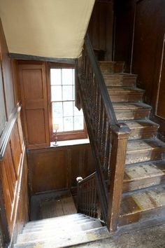 The backstairs leading to a maids' attic bedroom. Mansion was built in 1847.