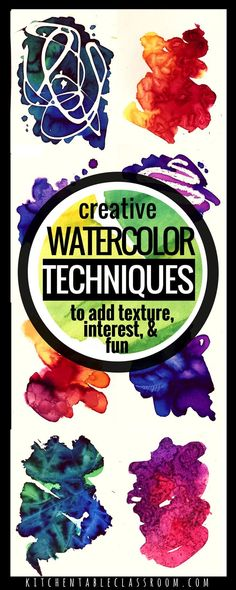 Watercolor for Kids- 9 Watercolor Techniques for Any Age What if I told you I have nine watercolor techniques for your kiddos to try that will bring new life to that tray of dried up watercolor paints? Kids Watercolor, Watercolour Painting, Watercolours, Watercolor Pencils, Painting Art, Painting Flowers, Water Color Painting Easy, Watercolor Classes, Watercolor Lesson