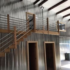 Metal buildings simple and Pole barn homes interior. Metal Garage Buildings, Shop Buildings, Steel Buildings, Metal Shop Building, Steel Building Homes, Building A House, Building Ideas, Metal Shop Houses, Barn Houses