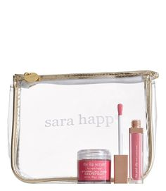 Perfect the pout with this sparkling pink lip set by sara happ that would also make a fabulous gift for any beauty junkie.
