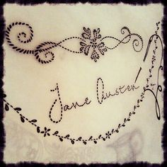 Finished the last of the ink work for my Jane Austen-inspired art piece. I love to do 'real' embroidery as well, but drawing this was a lot of fun.