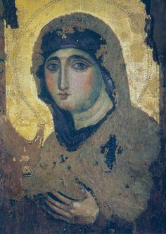 Madonna Advocata (Nostra Advocata). Panayia Agiosoritissa. 7th century. One of the most ancient icons of Virgin Mary. Likely this icon is transferred from Constantinople to Rome during Iconclasm that lasted from 726 to 842. Nostra Signora del Rosario a Monte Mario church, Rome.