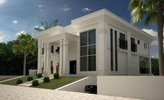 CASA NEOCLASSICA MODERNA : Casas clássicas por TRAÇO FINAL ARQUITETURA E INTERIORES
