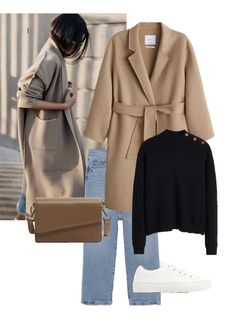 Winter Fashion Outfits, Fall Winter Outfits, Autumn Winter Fashion, Mode Outfits, Chic Outfits, Look Blazer, Outfit Invierno, Sous Pull, Minimal Outfit