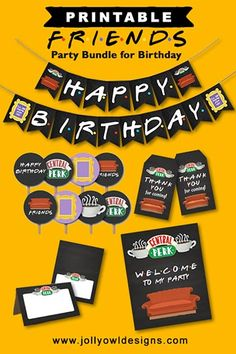 Friends Birthday Cake, Diy Birthday Banner, Friends Cake, Happy Birthday Friend, Sister Birthday Quotes, 13th Birthday Parties, Happy Birthday Images, Friends Tv, Happy Birthday Banners