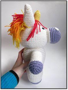Stacey of Fresh Stitches is designing a crochet unicorn!