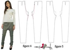 3 Easy Ways To Draft a Harem Pants Pattern - Sewing For A Living Doll Dress Patterns, Sewing Patterns Girls, Clothing Patterns, Pattern Sewing, Shirt Patterns, Sewing Designs, Pattern Drafting, Harem Pants Pattern, Harem Pants Men